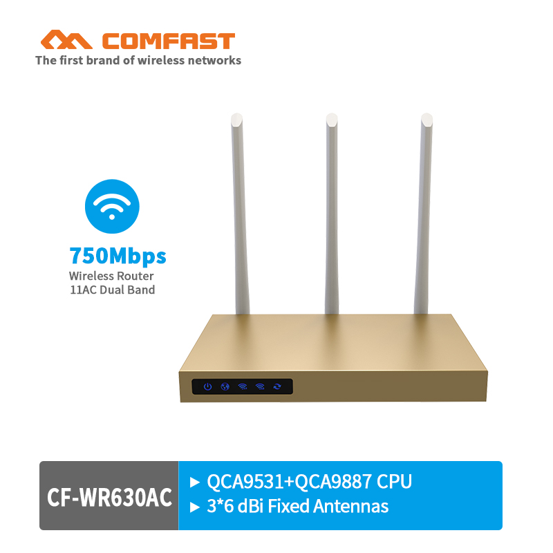 750Mbps Dual Band 5.8Ghz wireless router with 3*6dBi antenna wifi build-in 3PA 802.11ac wifi router coverage 500sq.m 4*LAN port new tp link wdr7400 1750mbps 11ac 6 antenna fast wifi extender wireless dual band router for home computer networking