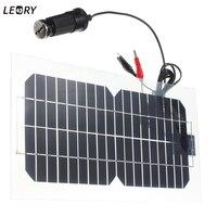 Leory 5.5 Вт 18 В кремния солнечные панели полу-гибкий прозрачный монокристаллический солнечных батарей sunpower engergy + 2 Клипы + зарядное устройство ...