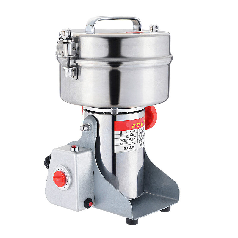 Coffee Grinders 1500 grams of large Chinese traditional medicine crusher, grain flour mill super fine grinding machin