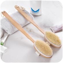 Long Wooden Handle Bath Body Brush Boar Bristles Exfoliating