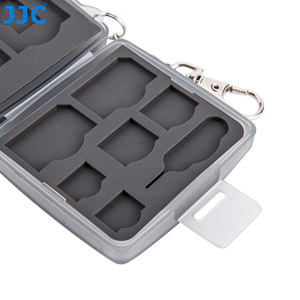 Image 3 - JJC SD CF TF SIM بطاقة نانو SIM كاميرا مقاومة للماء بطاقة الذاكرة صندوق تخزين صغير الحجم