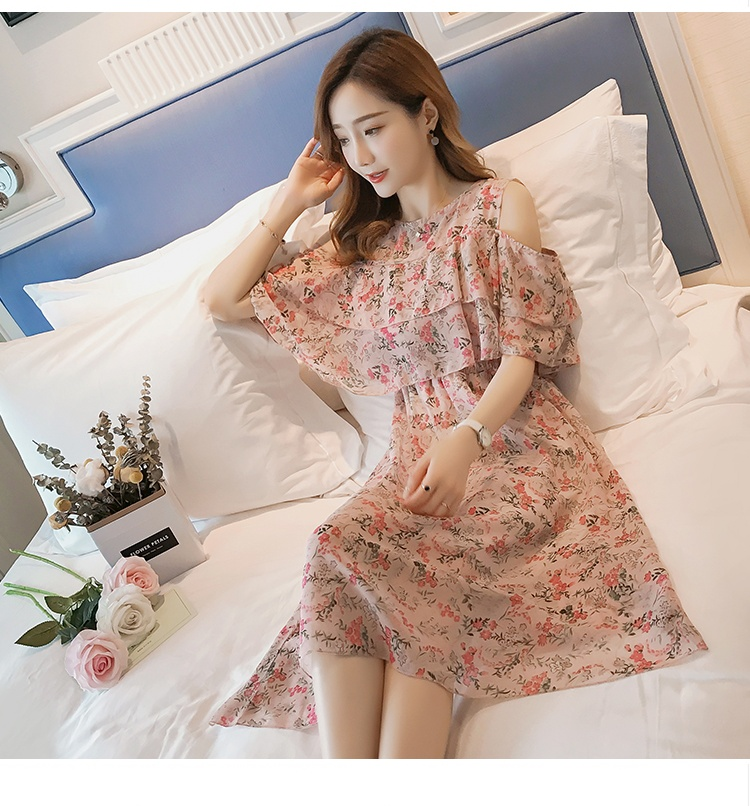 Pregnant Nursing Dress Off Shoulder print Maternity Breastfeeding Dresses For Photo Shoot Chiffon Maternity Dress Party Clothes 72