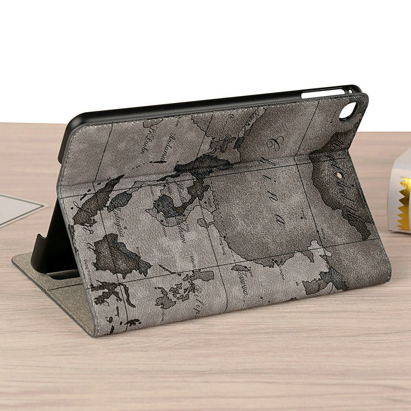 For Apple iPad 6 5 4 3 2 2017 2018 2019 Air1 Air 2 iPad Pro 9 7 10 5 11 12 9 inch Case Map Flip Leather Case Smart Stand Cover in Tablets e Books Case from Computer Office