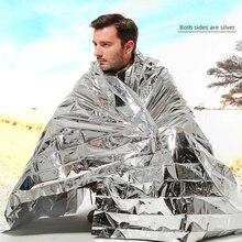 Первая помощь Серебряный спасательный занавес военный одеяло Открытый водонепроницаемый для спасения при аварийной ситуации одеяло фольги термальное пространство