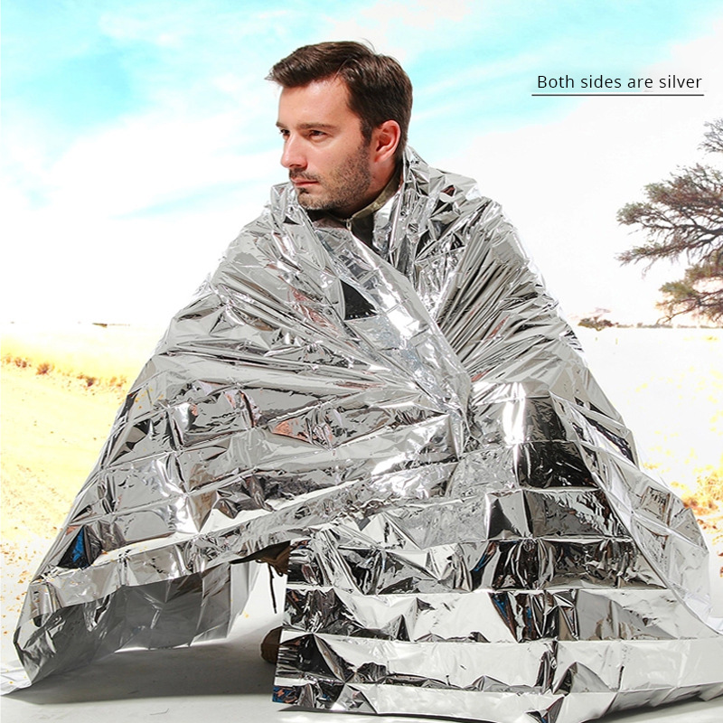 First Aid Sliver Rescue Curtain Military Blanket Outdoor Water Proof Emergency Survival Rescue Blanket Foil Thermal Space