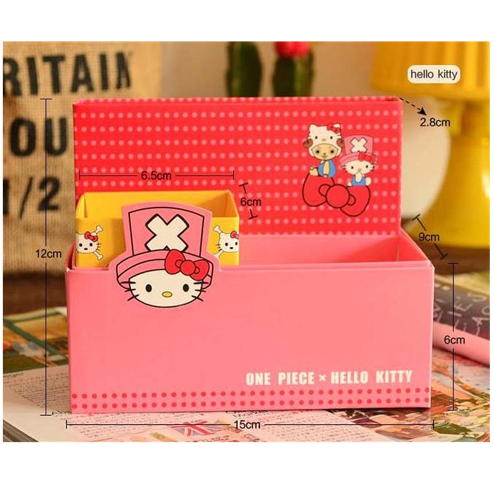 one piece Carton Hello Kitty Pen Holders Paper Storage Box Stationery gift for