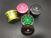 Pembe/Yeşil/Siyah/Kahverengi 63mm SharpStone Sürüm 2.0 herb öğütücü Alüminyum Metal Tütün sigara ot Keskin taş değirmeni