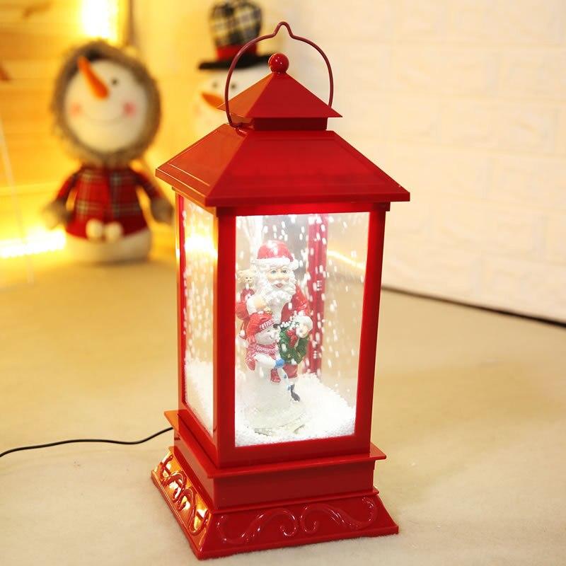 Nouvelles décorations de noël créatif neige musique lanterne Festival scène décoration accessoires brillant boule de verre avec jouet de neige Speelgoed - 3