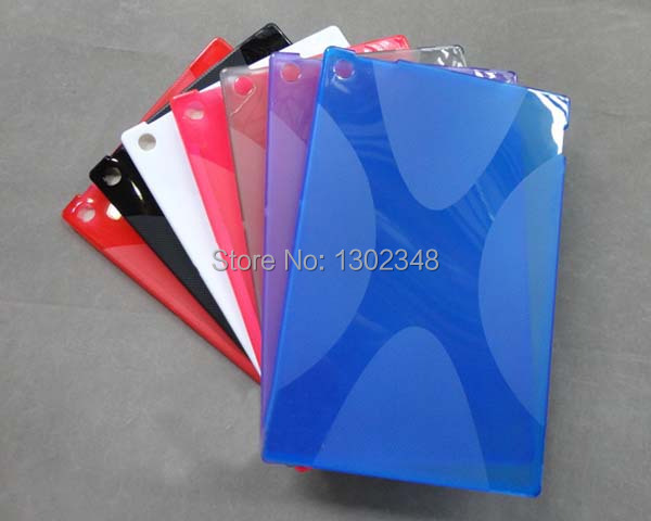 Anti-skid Matte X Line Soft Silicon Rubber TPU Gel Skin Cover Protector Case For Sony Xperia Tablet Z SO-03E SGP341/311/312 x line tpu case gel silicone tablet case skin rubber cover pouch sleeve bag for sony xperia z3 8 0 tablet compact sgp621 sgp641