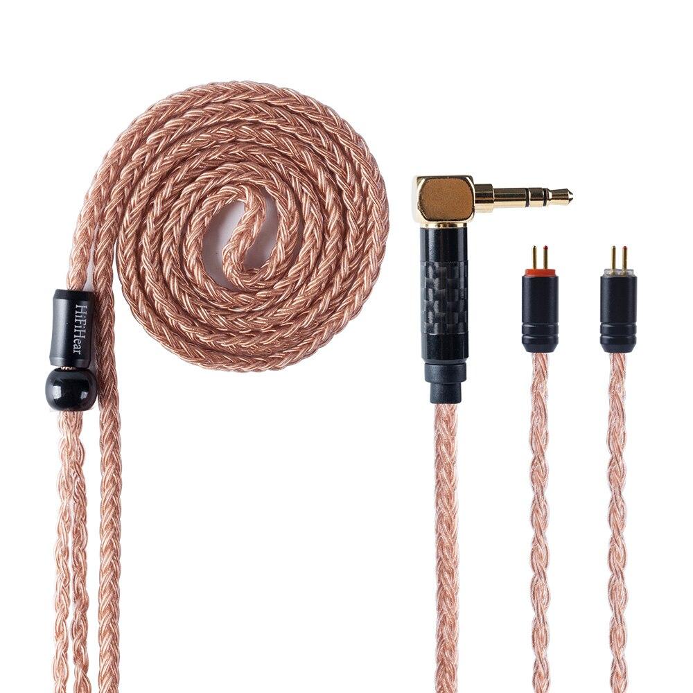 HiFiHear 16 Core brown Überzogen Verbesserte Kabel 2,5/3,5/4,4mm Ausgeglichen Kabel Mit MMCX/2pin Stecker für KZ AS10 ZS10 ZST CCA C10-in Kopfhörer aus Verbraucherelektronik bei  Gruppe 1