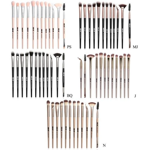 1 Set EyeMakeup Brushes Set Eyeshadow Brush Eyebrow Comb Brush  Eyelash Bevel Eyeliner Smudge Brush Kit 5