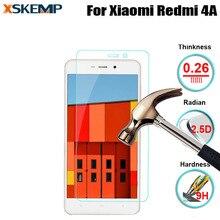 Премиум настоящее взрывозащищенный закаленное стекло для xiaomi redmi 4а нет отпечатков пальцев тонкий экран протектор защитная передняя фильм