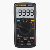 ANENG AN8008 Digital Multimeter Auto/Manual Range AC/DC Volt Amp Ohm Capacitance Frequency Diode Tester 9999 Counts True RMS