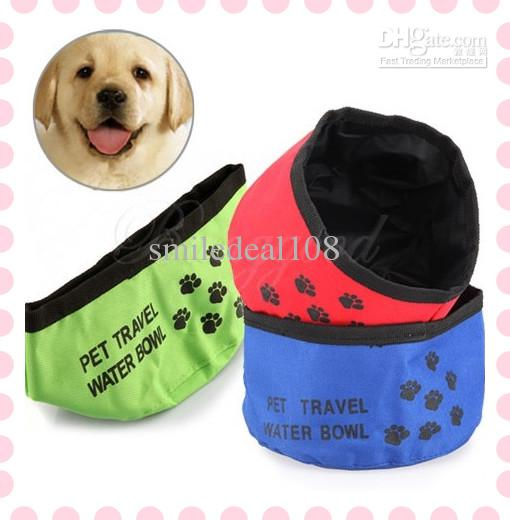 Pet Dog Cat Puppy Feeding Bowl Water Food Foldable Dish Bowl Outdoor Travel Camping Bed Mat