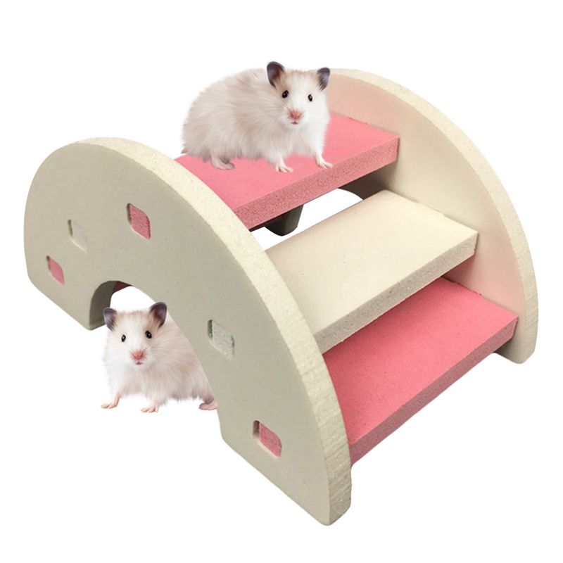 Hamster Seesaw Ladder Rainbow Bridge Pet Toys Wooden Bridge Hanging Toys Small Animals Cage Accessories Pet Product