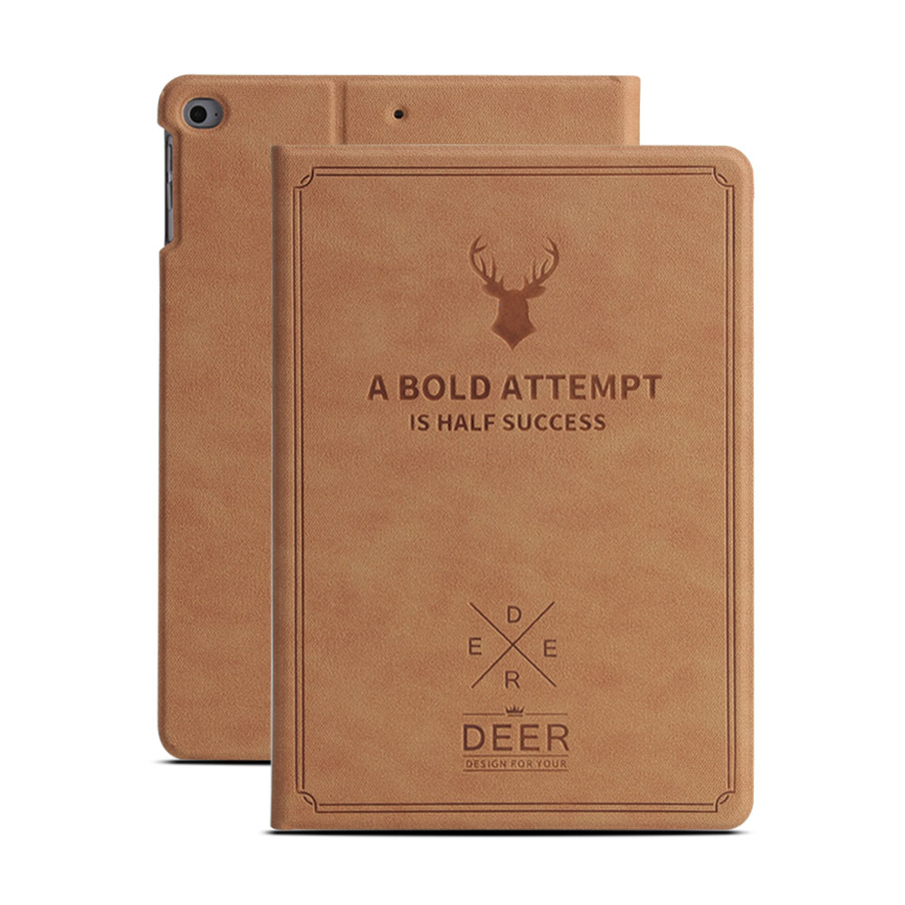 For iPad 9 7 2017 2018 Case A1822 A1893 GOLP PU Leather Deer Pattern Flip Smart Cover for iPad 2018 Case 9 7 inch 2017 Case in Tablets e Books Case from Computer Office