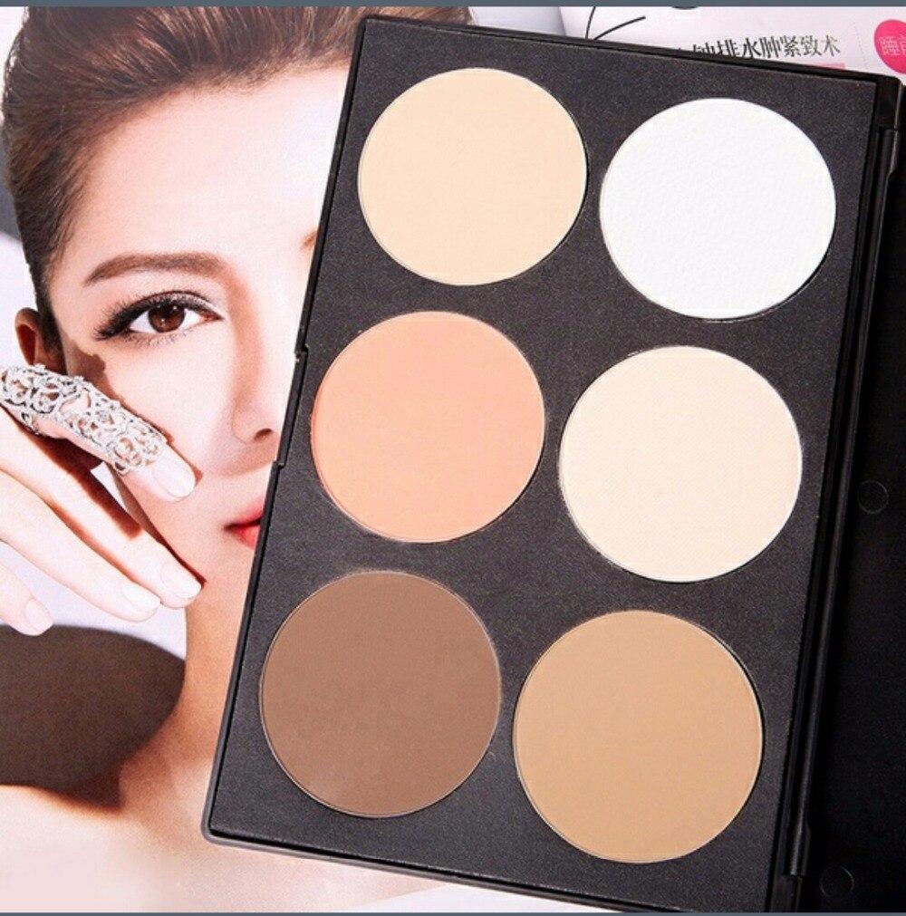 6 Colors Highlighter And Bronzer Contour Palette Professional City Color 2 Makeup Face Sculpting Kit