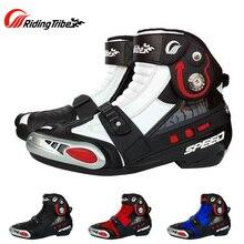 Байкерские ботинки из микрофибры для верховой езды; водонепроницаемые дышащие мотоциклетные ботинки; мотоциклетные ботинки для мотокросса
