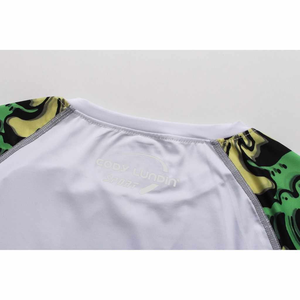 T-shirt mężczyźni 2019 marka moda męska z długim rękawem jogi Fitness drukuj miękki T-shirt Top śmieszne koszulki z krótkim rękawem