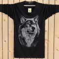 Cotton 3d t Shirt  Men 2016 Autumn Winter New Arrvial 3D Funny Wolf  Man's T-shirt Extended Plus Size 6XL White Black Blue