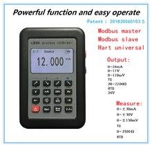 Тестер калибровки температуры LB06 Hart, напряжение тока 4 20 мА 0 10 В/мВ, генератор сигналов, термопара PT100