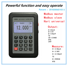 LB06 Hart Currentแรงดันไฟฟ้า 4 20mA 0 10V/MVสัญญาณแหล่งThermocouple PT100 อุณหภูมิProcess Calibratorเครื่องทดสอบ