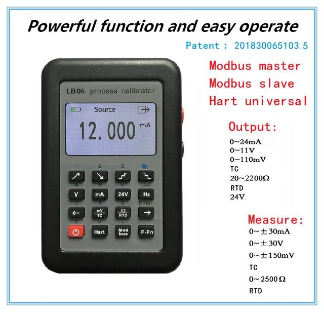 LB06 Hart Current voltage 4 20mA 0 10V/mV Signal Generator Source thermocouple PT100 temperature Process calibrator Tester