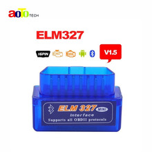 High Quality Super Mini ELM327 Bluetooth V1.5 OBD2 Auto Code Reader Mini 327 Car diagnostic interface ELM 327 Bluetooth