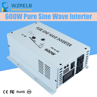 Непрерывная мощность 600 Вт Чистая синусоида солнечный инвертор 24 В до 220 В off grid Чистая синусоида солнечный инвертор преобразователь солнечн