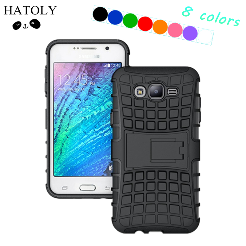 HATOLY For Samsung Galaxy J7 Case J7008 J700F Heavy Duty Armor Shockproof Hybrid Hard Rubber Phone Cover For Samsung J7 2015