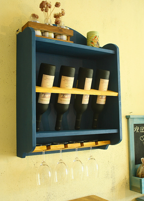 Wine Rack Hanging New Wall Mounted Cup Holder Cooler Home Bar
