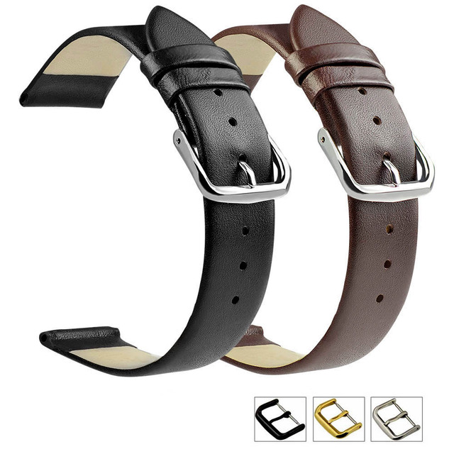 ZLIMSN Genuine Leather Watchband Smooth Soft Thin Watch Band Belt Suitable for Longines 18mm 20mm 22mm Strap Watches Accessories