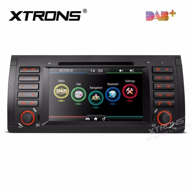 7 Car DVD radio for BMW X5 E53 1999 2006 with Built in Vehicle Standard DAB+Module & Professional DAB+ Antenna & Moveable Icons