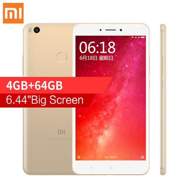 "Najnowszy! Oryginalny Xiaomi Mi Max 2 Max2 6.44 ""Telefon komórkowy 4 GB RAM 64 GB Snapdragon 625 Octa Rdzeń 1080 P 12.0MP OTG 5300 mAh Baterii"
