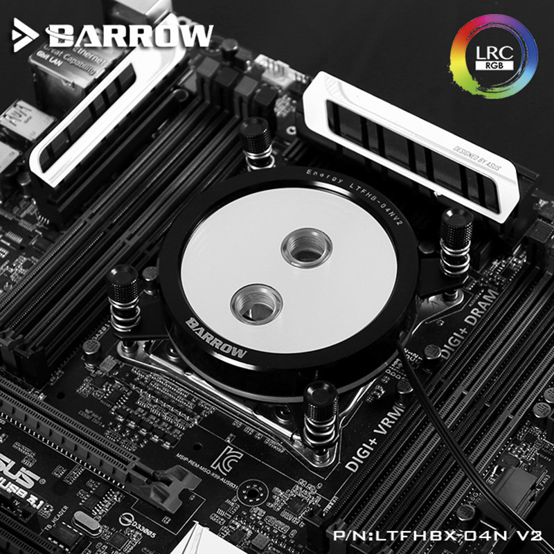 Купить с кэшбэком Barrow For Intel 2011/X99/X299 CPU Water Blocks Mirror Extreme, LRC RGB v2 Acrylic Microcutting Microwaterway LTFHBX-04N-V2