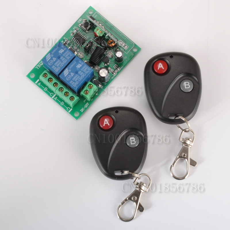 Free shipping 24V 2CH RF Wireless Remote Control Switch System transmitter & receiver 2ch relay smart home z-wave 2pcs receiver transmitters with 2 dual button remote control wireless remote control switch led light lamp remote on off system