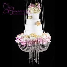 Подставка для торта подвесная для украшения торта Центральная люстра Свадебная вечеринка Декор (кристалл, DIA24 «или 18»)