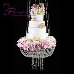 Kuchen stehen hängen für kuchen topper dekor herzstück kronleuchter Hochzeit event party decor (Kristall, DIA24 ODER 18)