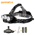 Headlamp Headlight 8000lumen lampe frontale fishing lanterna led flashlight 3 x xml t6+2 x blue led  for camping fishing hunting