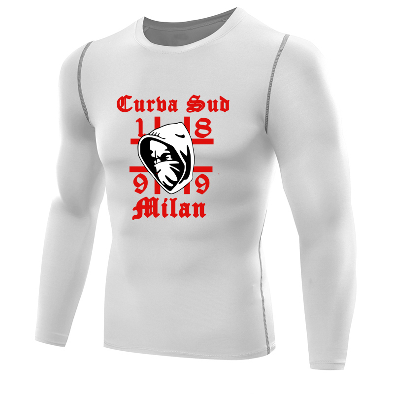 2017 Curva Sud Milano <font><b>shirt</b></font> men compression <font><b>shirt</b></font> long sleeve Fitness Tops 1899 <font><b>Milan</b></font> <font><b>T</b></font>-<font><b>shirt</b></font> ac <font><b>inter</b></font> dry fit tshirt tight top image