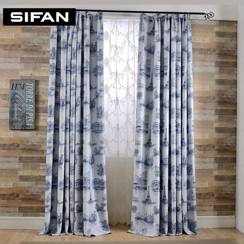 elegant window treatments rustic european eiffel tower printed blackout curtains for living room modern the bedroom elegant window curtainsin from home garden on