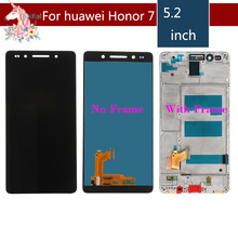5.2 IPS LCD For HUAWEI Honor 7 LCD Display Touch Screen Digitizer with Frame for Honor7 original LCD Display Replacement цена