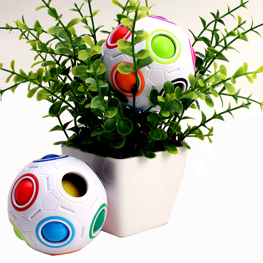 Rainbow Football Creative Ball Children Kids Adult Spherical Classic Magic Cube Toy Learning Educational Puzzle Fidget Toys