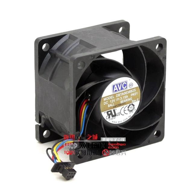 DBTA0638B2S 6038 12 V 3.15A 6 CM grande volume de ar do ventilador de refrigeração