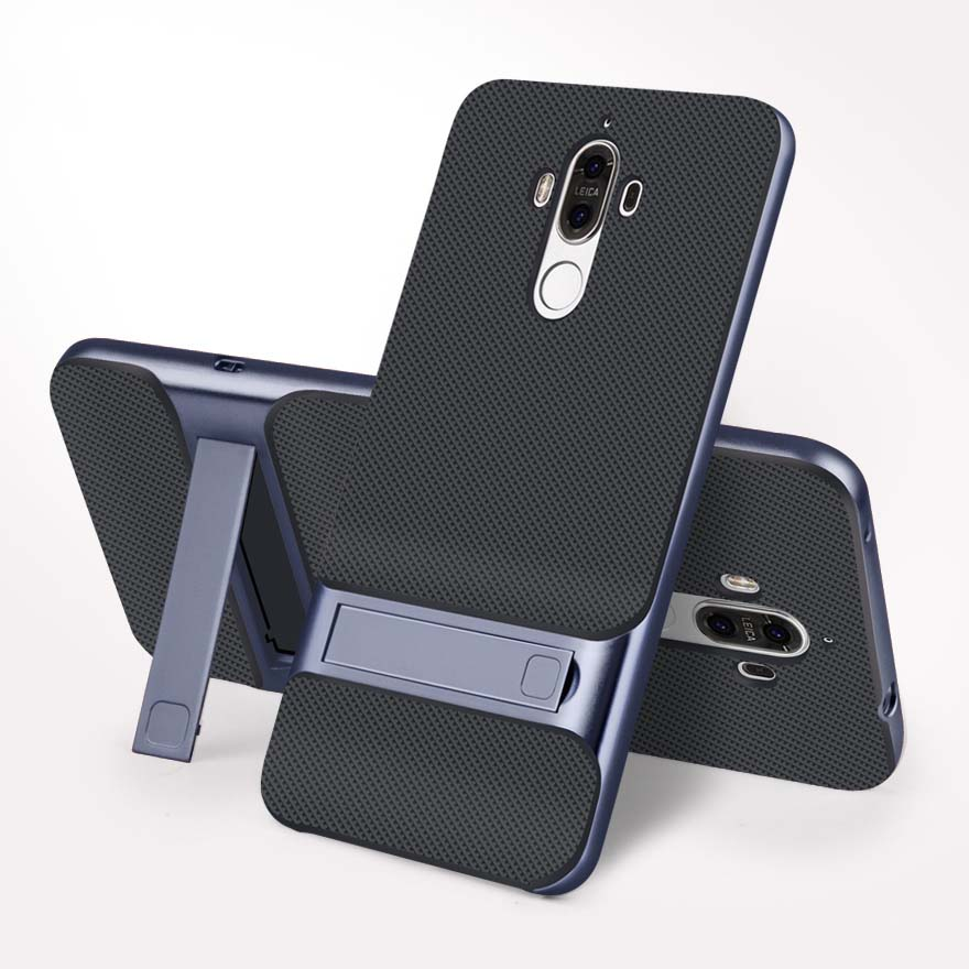3D Kickstand Phone Cover For Huawei Mate 9 Case Hybrid Cover 5.9 TPU+PC 360 Protection Carcasas Fundas For Huawei Mate 9