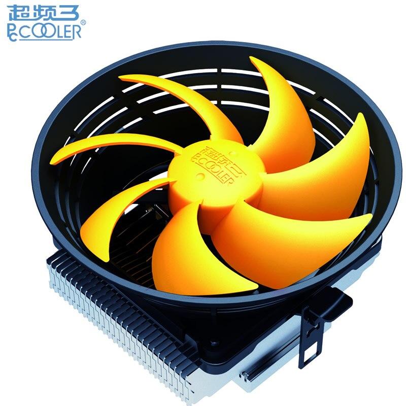 Galleria fotografica Très Silencieux 12 cm ventilateur pour Intel LGA775 1151 115x pour AMD AM2 + AM3 + FM1 FM2 CPU ventilateur refroidisseur radiateur de refroidissement PcCooler Q120