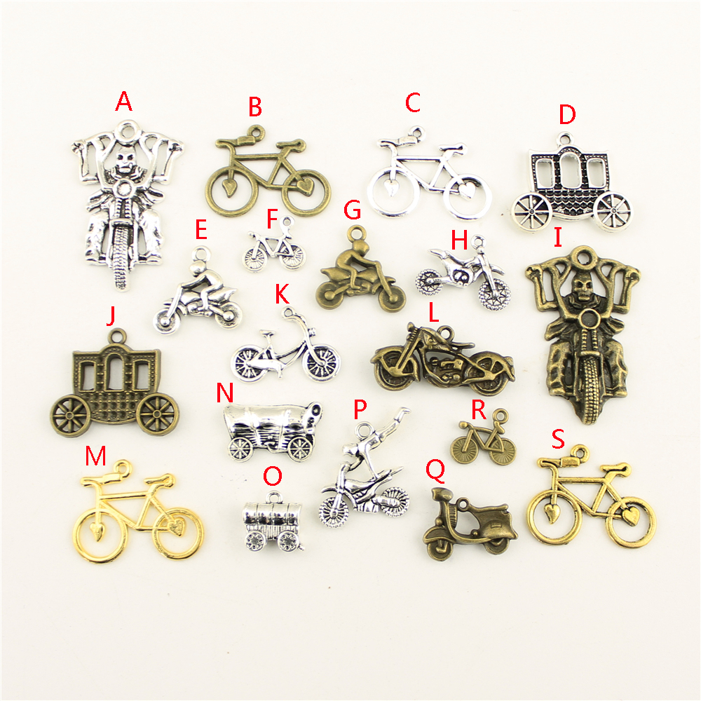 20Pcs Wholesale Bulk Diy Jewelry Accessories Bicycle Hand Made Charms Charm Women Backless Dress HK107 in Charms from Jewelry Accessories