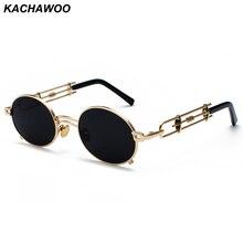 12398363aa Kachawoo redonda de metal steampunk gafas de sol hombres retro vintage  gótico punk de vapor,