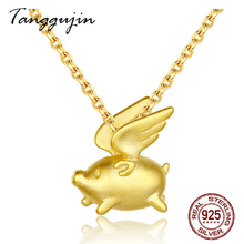 Necklace Women Silver 925 Sterling With Pig Pendant Necklaces For Woman 2019