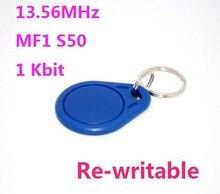 100 шт./лот 13.56 мГц nfc-устройства S50 ISO14443A перезаписываемые RFID Бесплатная доставка